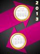 2013 arrow calendar for november and december