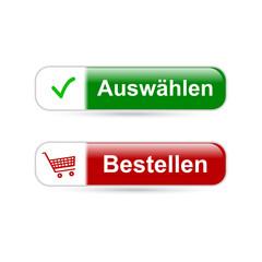 E-Shop: Auswählen & Bestellen Buttons