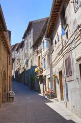 Alleyway. Bagnaia. Lazio. Italy.