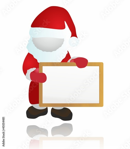 Santa and wood board