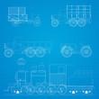 Retro cars blueprint