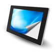 Tablet pc with open page. Vector.