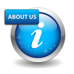 """ABOUT US"" Web Button (learn find out more discover information)"