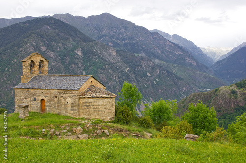 romanesque church of Sant Quirc de Durro in Vall de Boi
