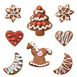gingerbread cookies white background