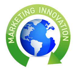 Marketing innovation cycle and globe