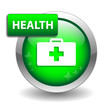 """HEALTH"" Web Button (first aid emergency hospital medicine diet)"