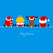 4 Sitting Christmas Symbols Iceblue