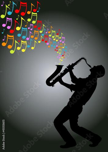 saxophone player - 45058615
