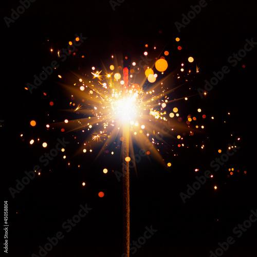 Leinwandbild Motiv christmas sparkler with shiny glare