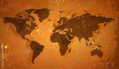 mapa-swiata-na-tlo-grunge