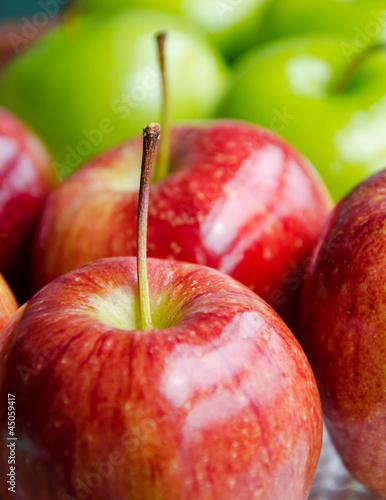 Close up red apple