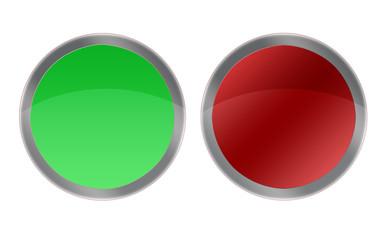 Boton verde y rojo.