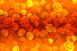 Pumpkin bokeh Halloween background