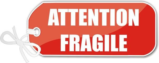 étiquette attention fragile