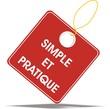 étiquette simple et pratique
