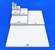3D DIN Format Konzept A0 bis A8 - Weiß auf Blau 01