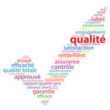 "Nuage de Tags ""QUALITE"" (satisfaction garantie qualité service)"