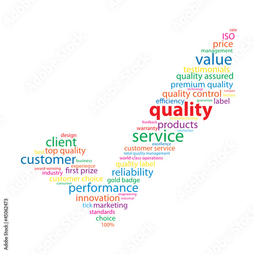 """QUALITY"" Tag Cloud (tick guarantee service satisfaction top)"