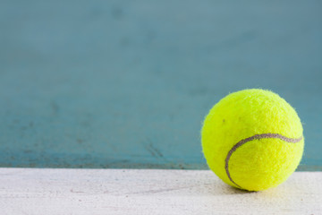 Tennis ball on the field.