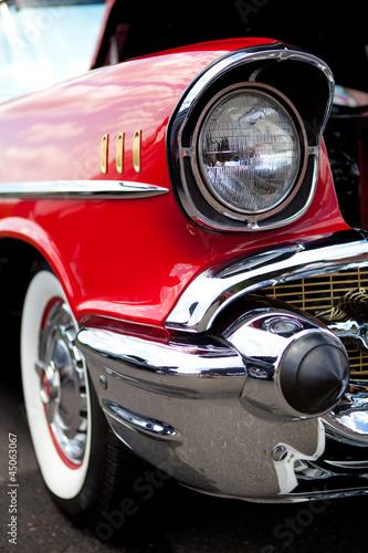 Foto op Canvas Vintage cars Classic Car Headlight