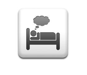 Boton cuadrado blanco simbolo dormir