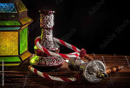 arabic pipe and lamp