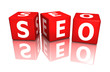 würfel cube seo seo - search engine optimization 3D