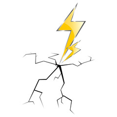 lightning and cracks vector