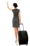 Woman on a business trip