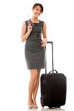 Business woman traveling