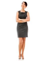 Thoughtful business woman