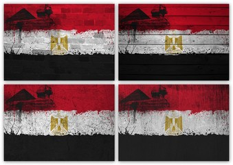 Egypt flag collage