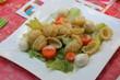 Salat mit Nudeln und Mozarella
