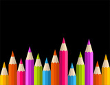 Back to school rainbow pencil banner pattern
