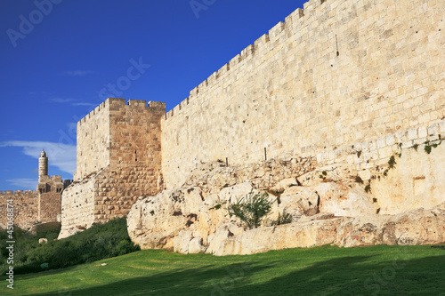 The ancient walls of the eternal Jerusalem