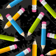 Back to school pencil grunge pattern