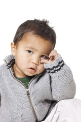 Studio portrait of baby boy (18-23 months)