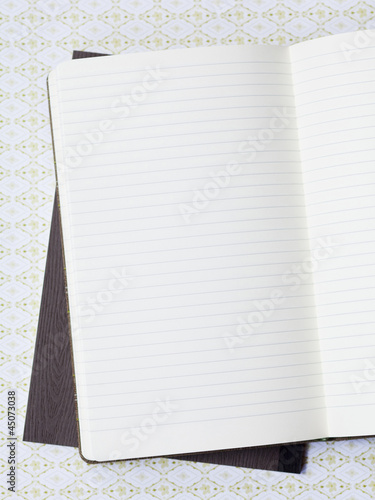 Lined notebook on file