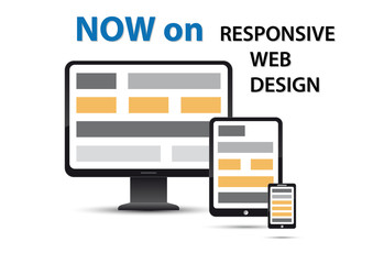 responsive web design, orange elements
