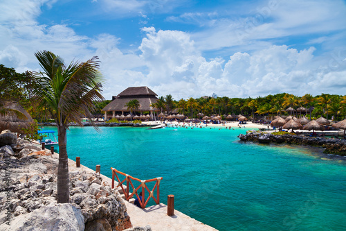Xcaret Beach in the Mayan Riviera