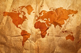 World grunge sepia map