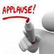 Applause Word Written by Man Marker Appreciation