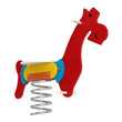 Colourful toy jumping horse