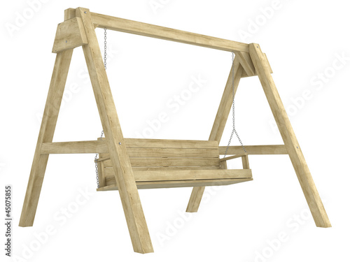Wooden garden swing bench