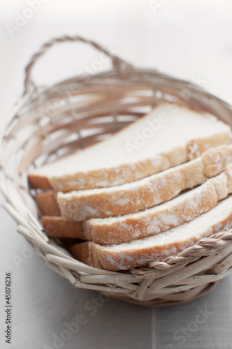 Sourdough bread in wicker basket