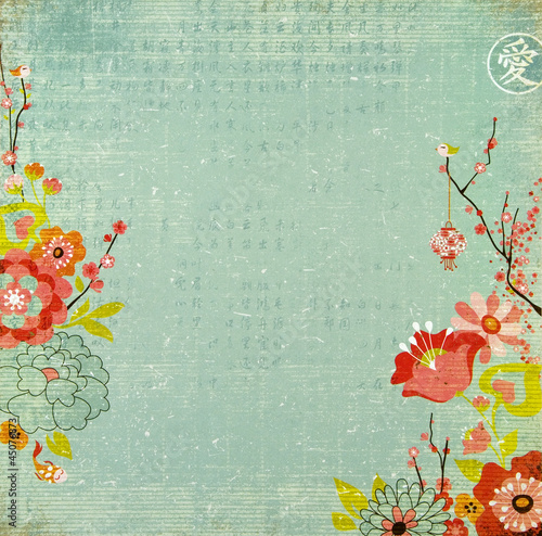 Chinese Lotus Flower Background