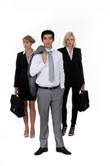 A businessteam.
