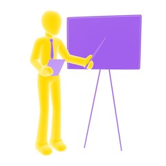 yellow person presentation
