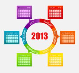Calendar 2013. Part 2. Vector Illustration